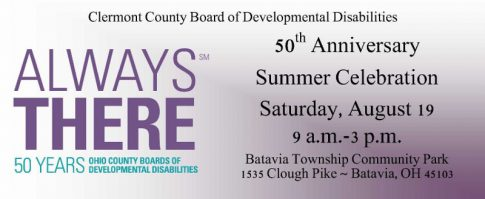 Clermont County DD Anniversary Aug. 19