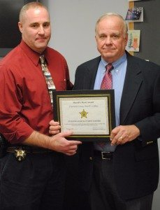 Investigator Matt Farmer and Sheriff Rodenberg