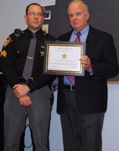 Sgt Bill Hogue and Sheriff Rodenburg