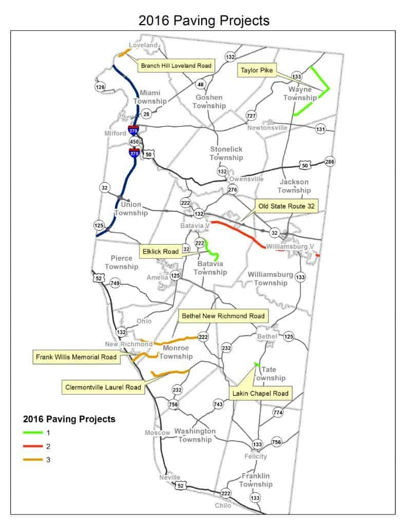 2016 county road resurfacing map