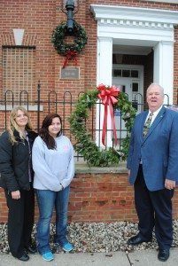 Nancy Weis, Amber Snodgrass and Commissioner Humphrey