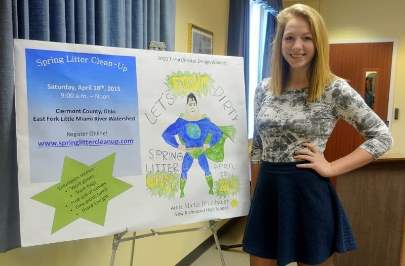 Micha Brumbaugh, 12th grader at New Richmond HS, and winner of contest.