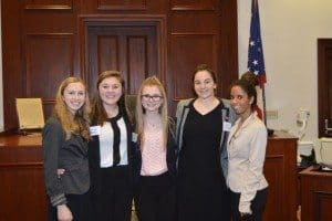 From left, Nicole Bauer, Grace Miller, Sydney Pachta, Elyse Flannery and Anna Rustom.