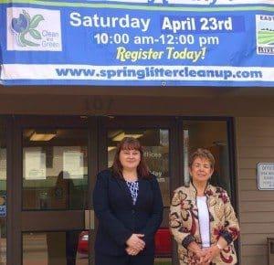 Williamsburg Administrator Susan Ellerhorst and Mayor Mary Ann Lefker.